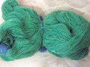 Продаю пряжу х/б зеленого цвета
